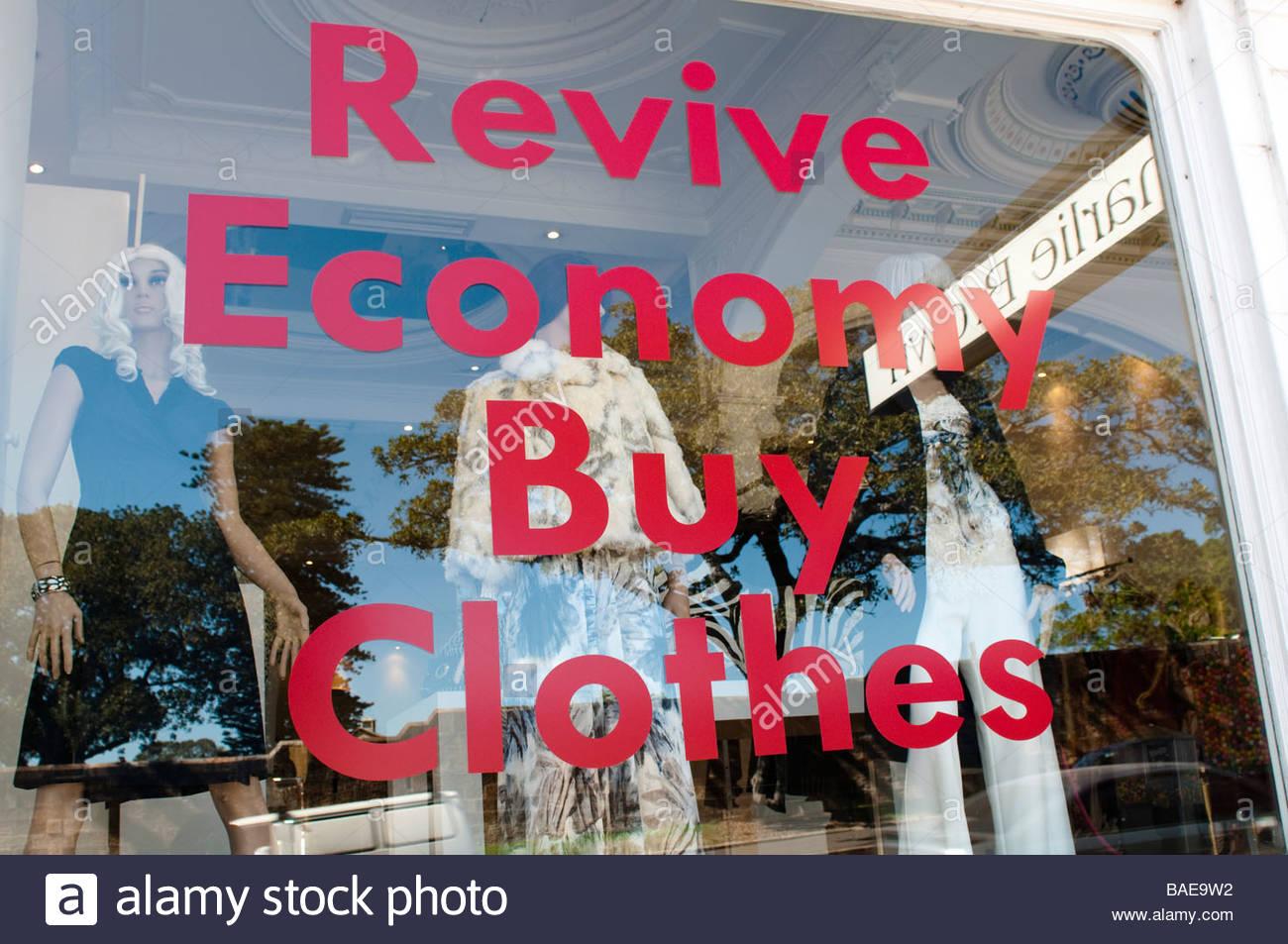 Revive Economy Buy Clothes shop on Oxford Street Paddington Sydney NSW Australia - Stock Image