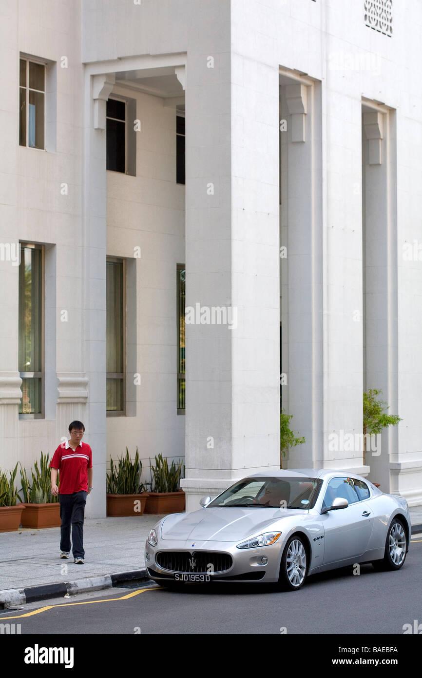 Singapore, Central Business District, Luxury Car Maserati Granturismo    Stock Image