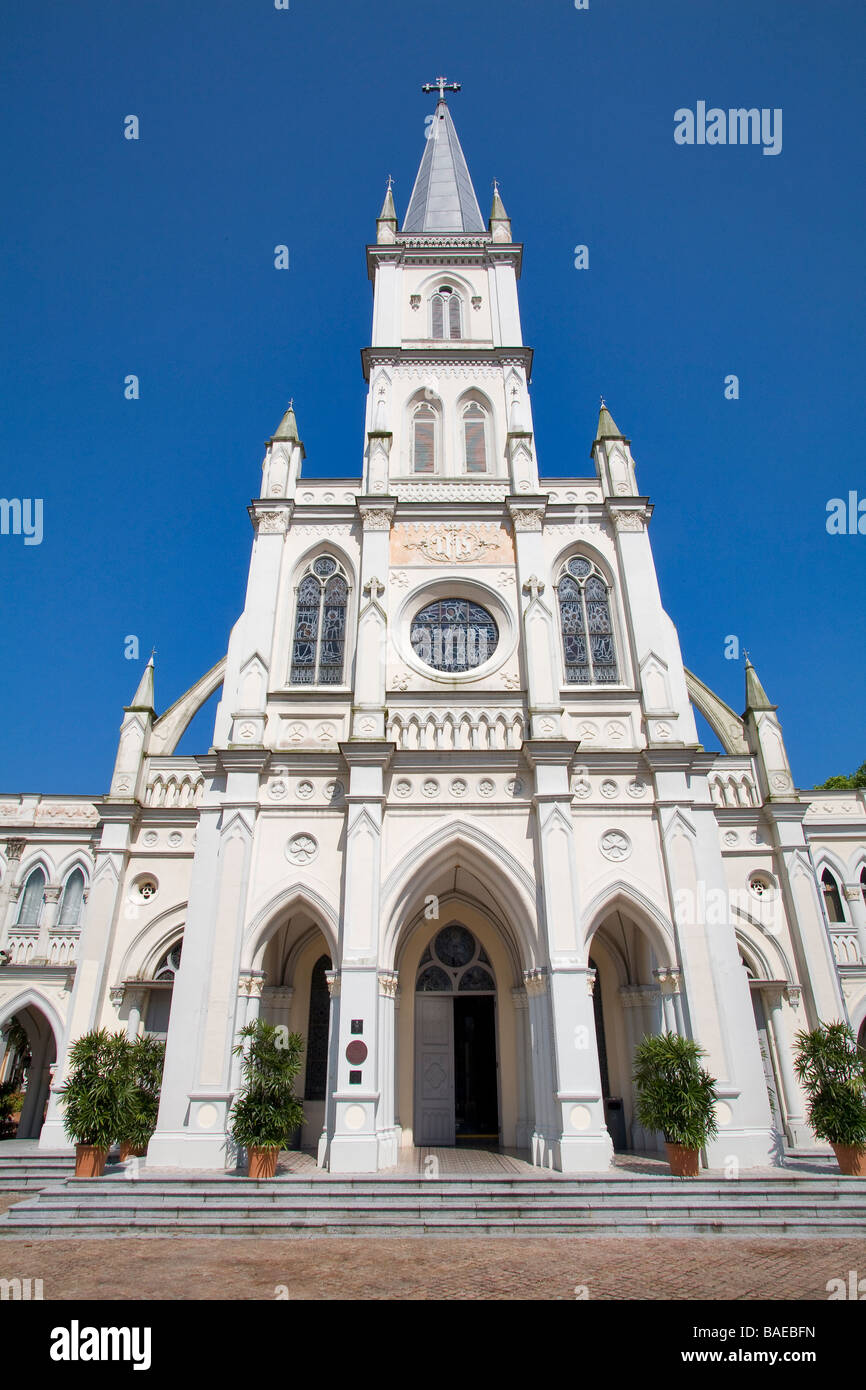 Singapore, Chijmes, Chij Chapel desecrated and now rent for the event - Stock Image