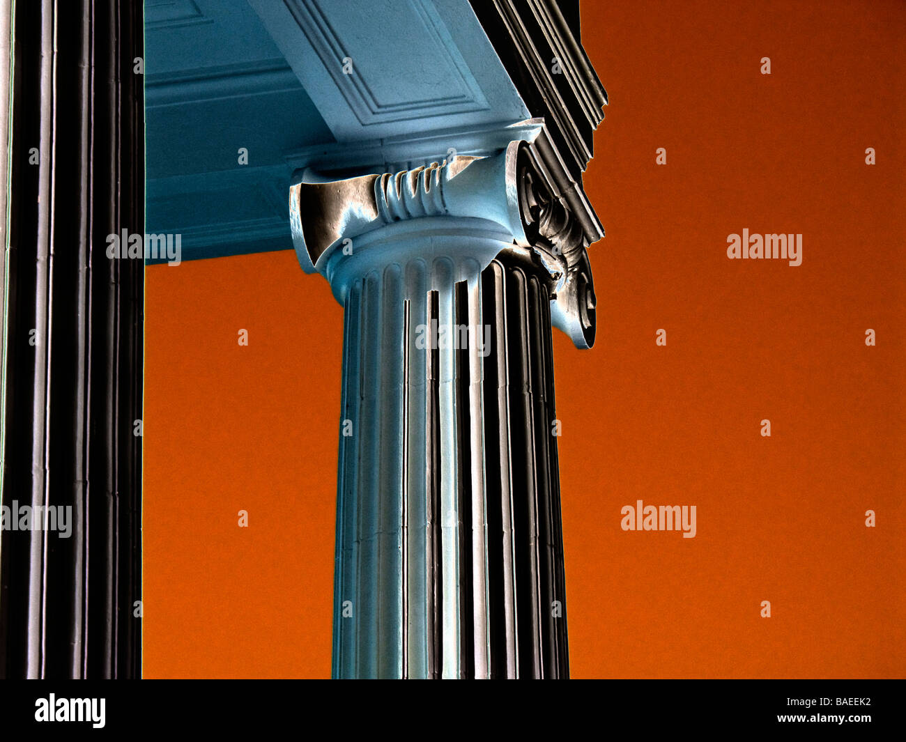 computer enhanced Corinthian style columns - Stock Image