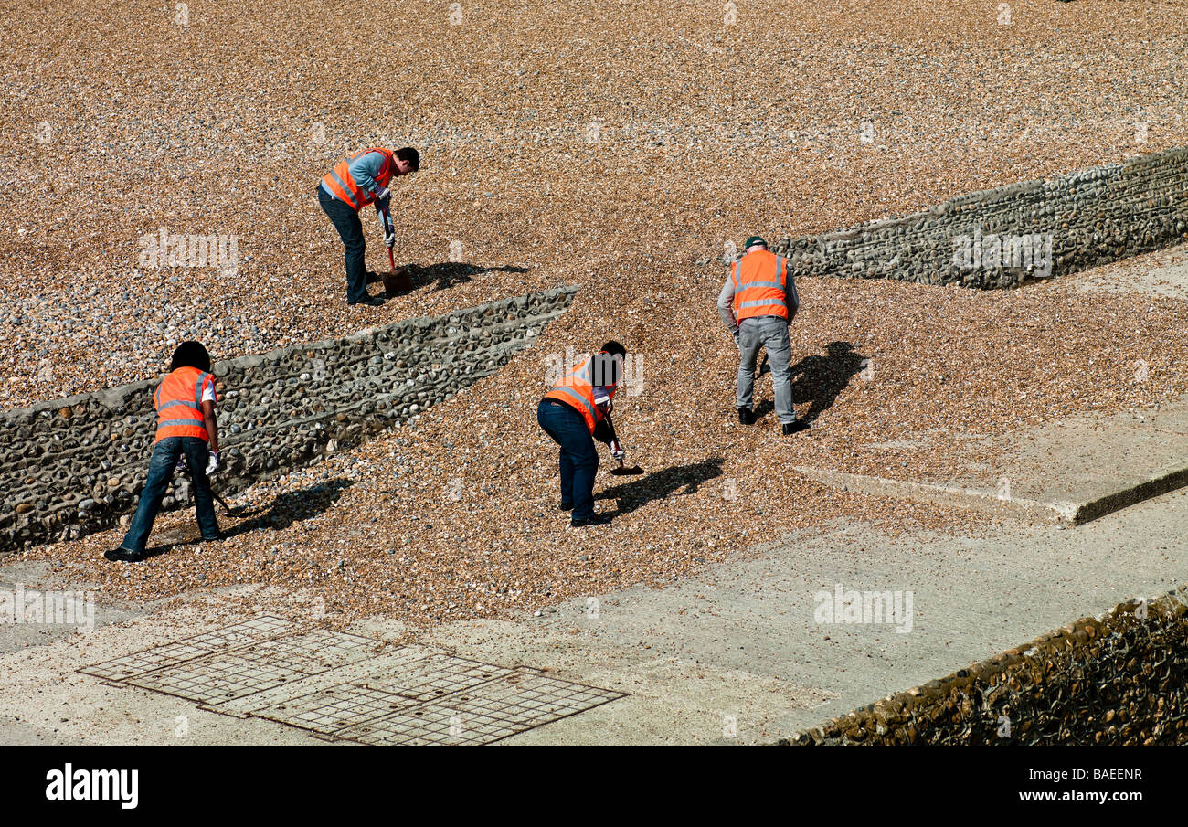 Council workers - Stock Image