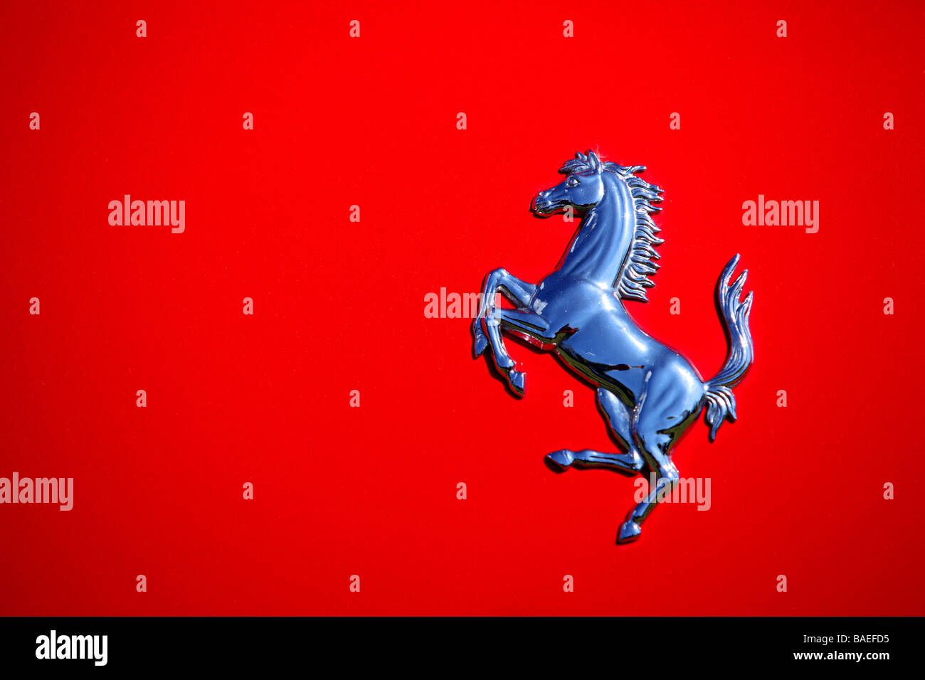 Ferrari Prancing Horse Badge Logo Stock Photos Ferrari Prancing