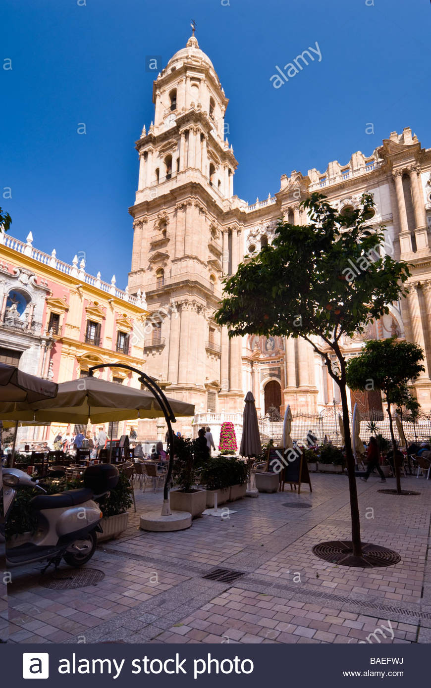 Malaga Cathedral, Andalucia, Spain. - Stock Image