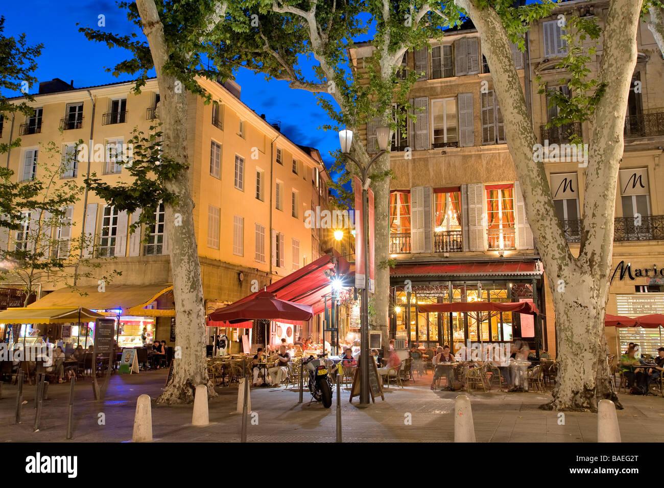 Cours Mirabeau, Aix en Provence, Bouches-du-Rhône | Aix en