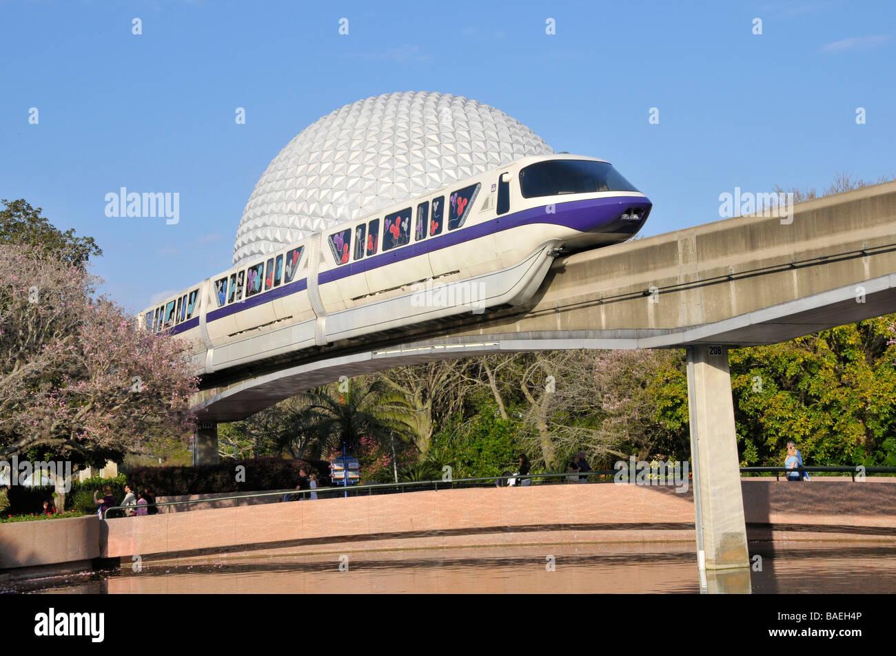Disney World Epcot Monorail Florida License Plate