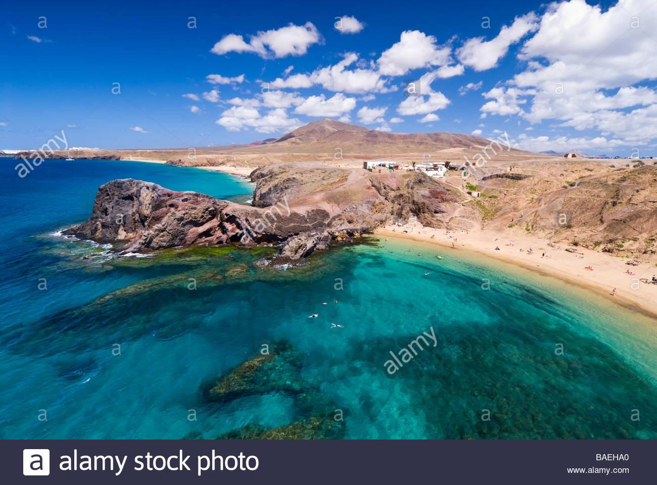Playa de Papagayo, Lanzarote, Canary Islands, Spain. - Stock Image