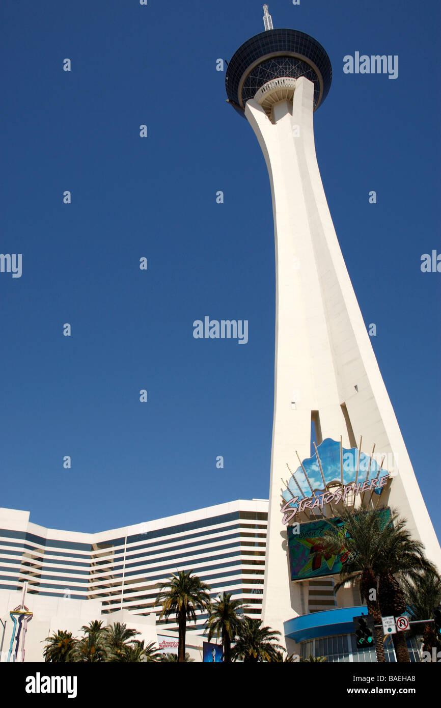 stratosphere tower las vegas boulevard las vegas nevada usa - Stock Image