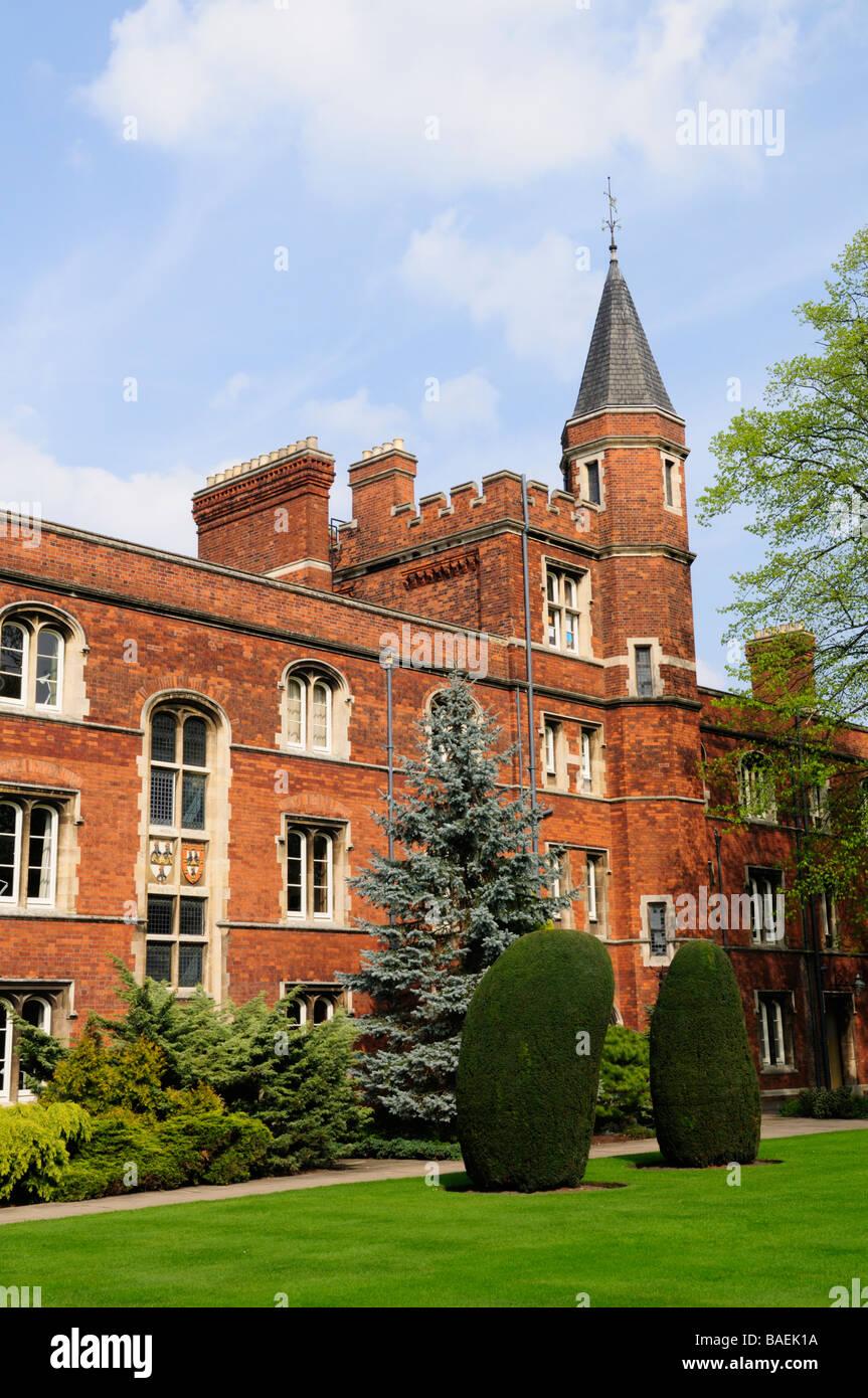 Jesus College Cambridge England Uk - Stock Image