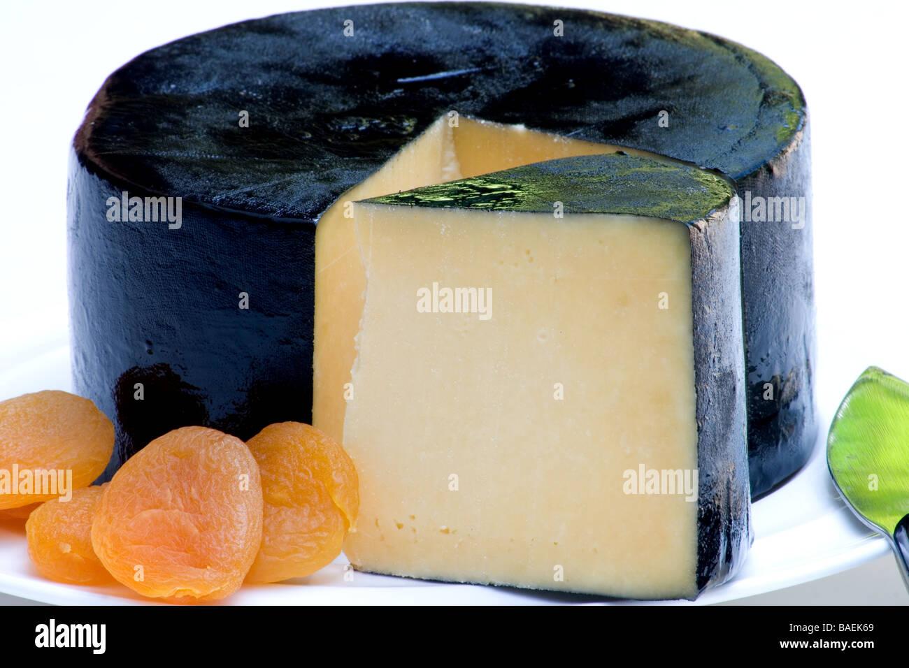 Parmesan cheese platter - Stock Image