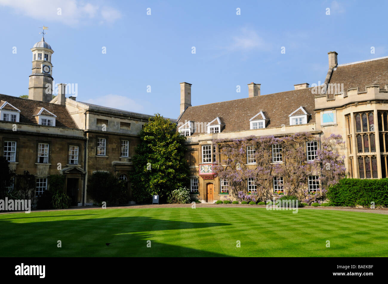 First Court in Christs College Cambridge England Uk - Stock Image