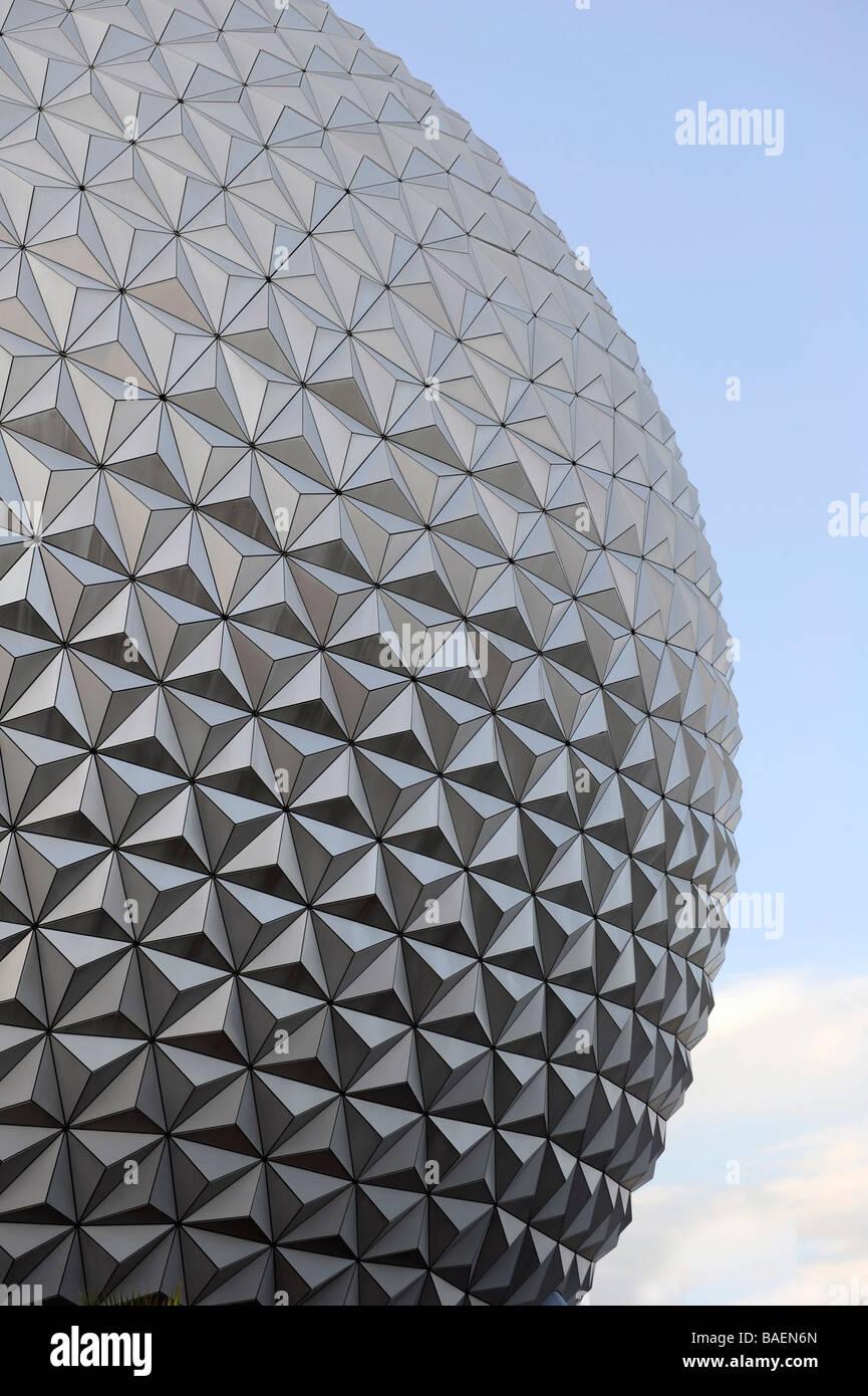 Spaceship Earth at Walt Disney World Epcot Theme Park Center Orlando Florida Central - Stock Image