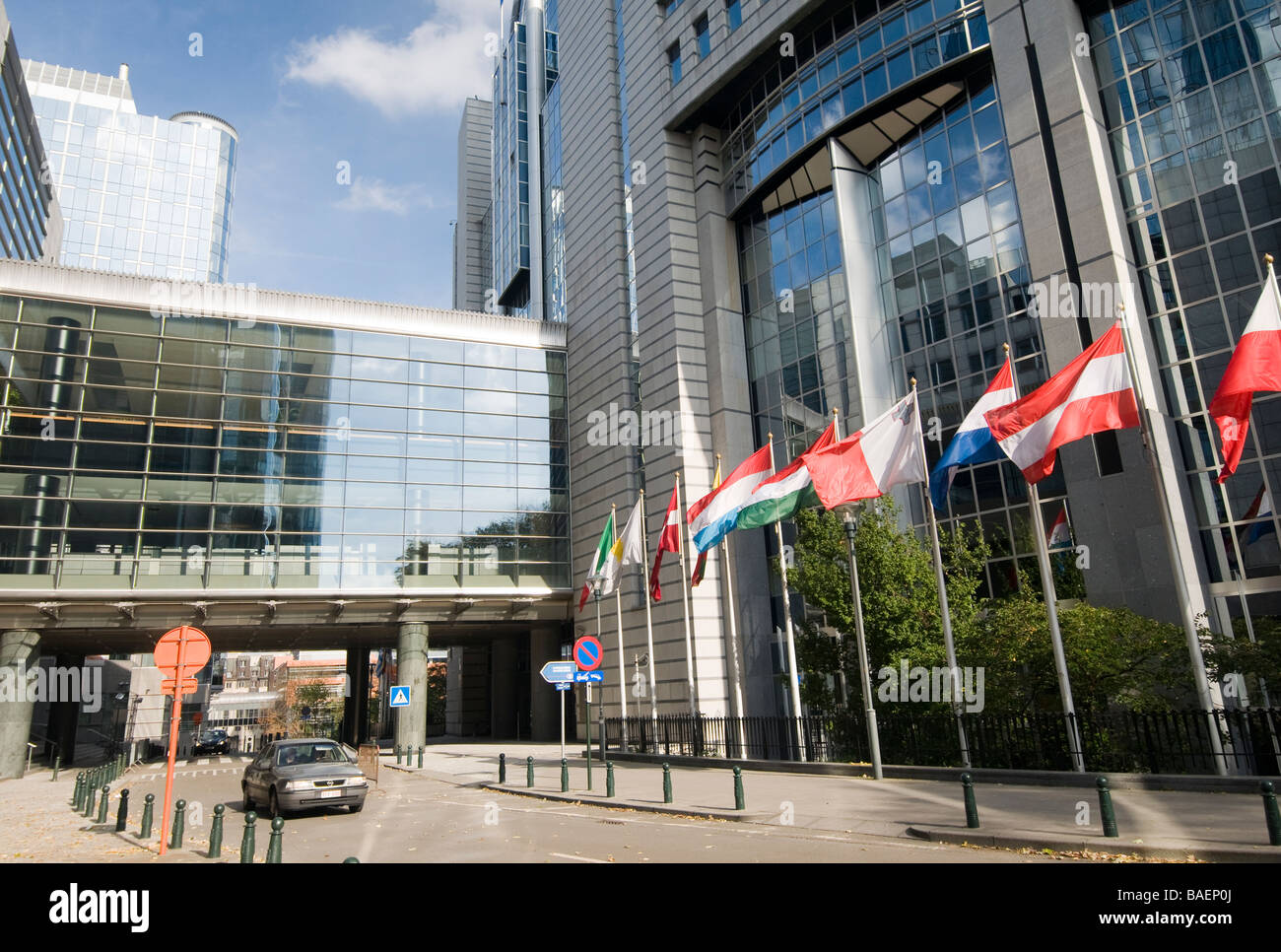 European Parliament, Brussels Stock Photo