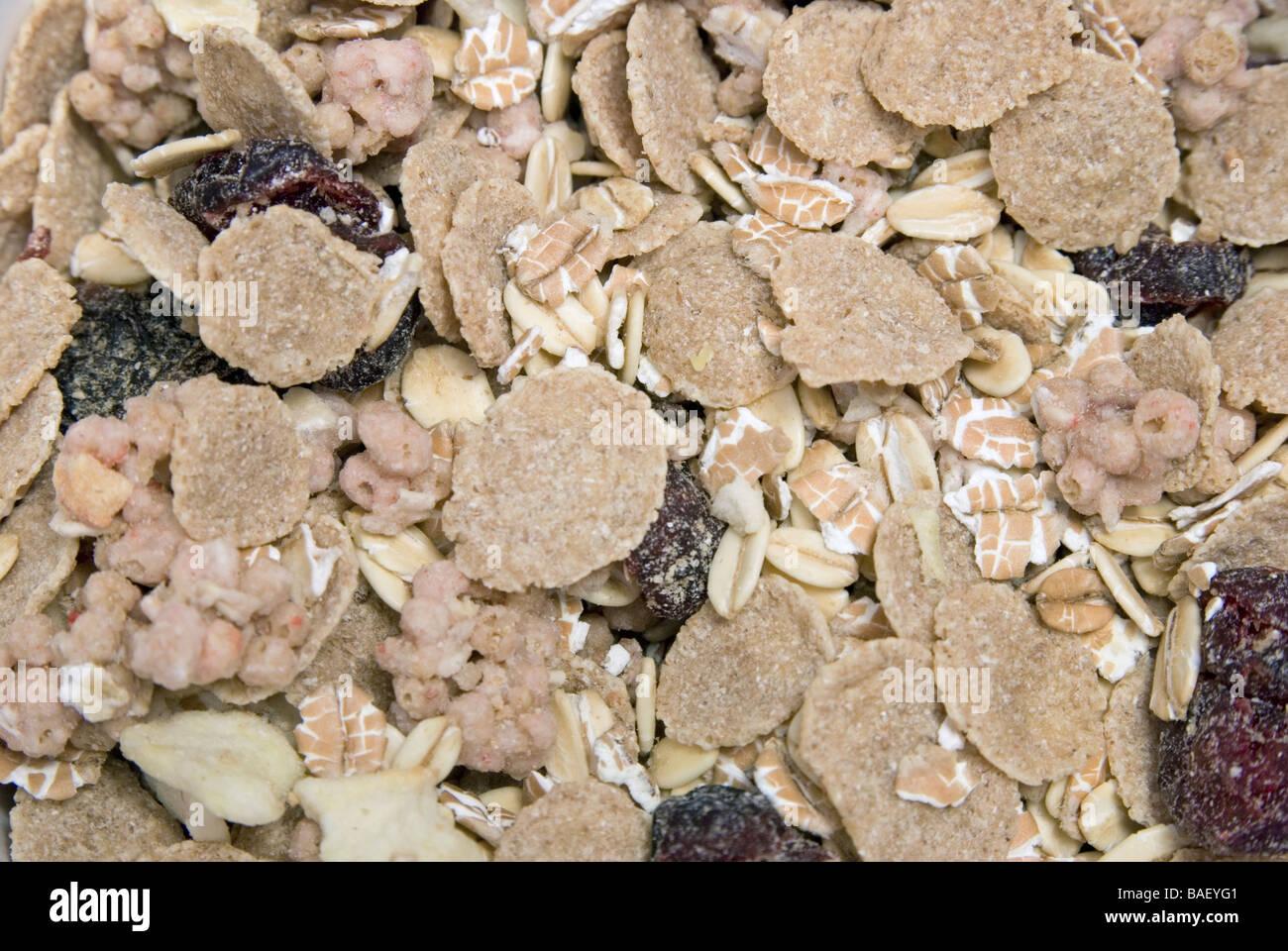muesli cereals - Stock Image
