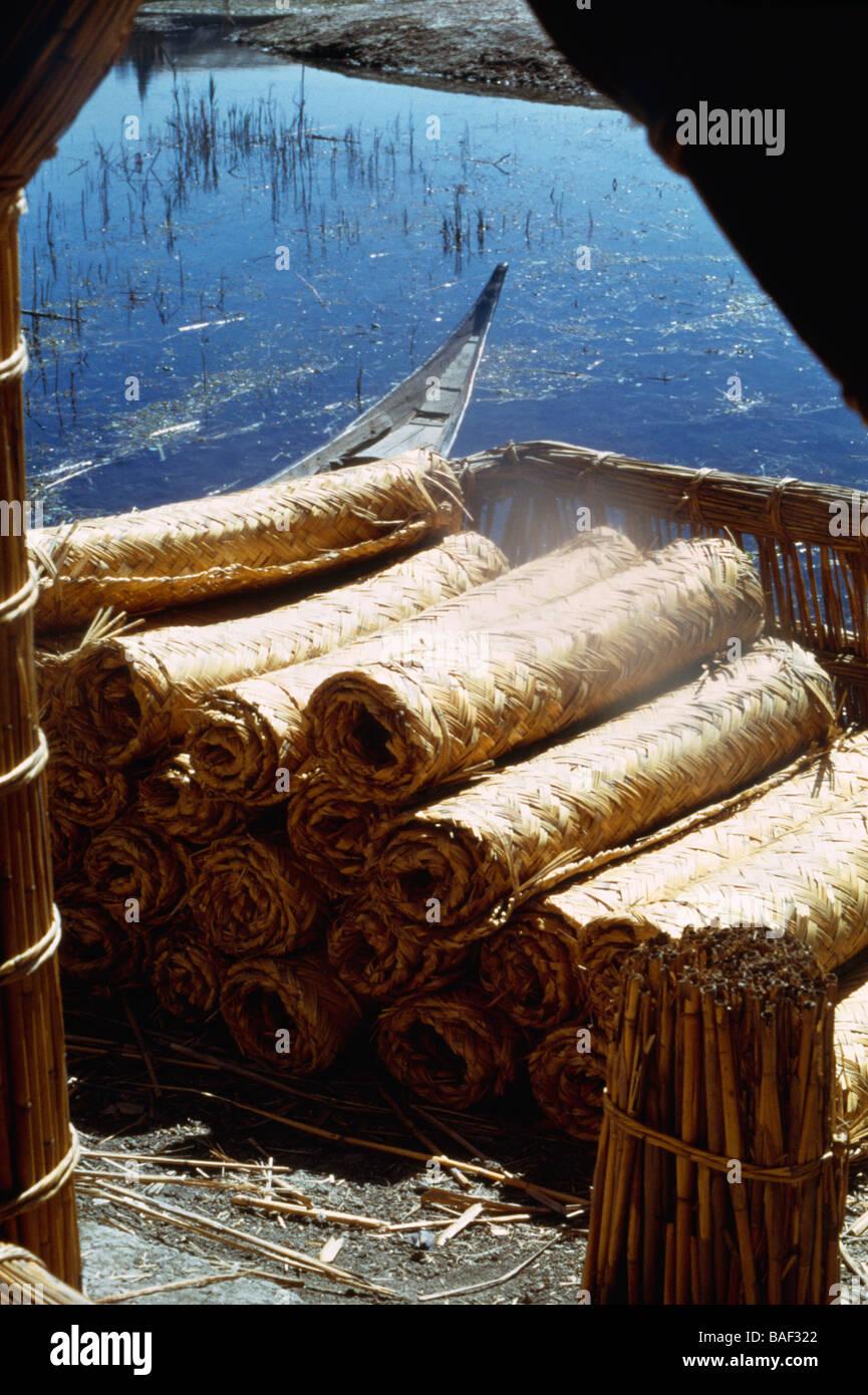 Iraq Straw Mats Made By Marsh Arabs - Stock Image
