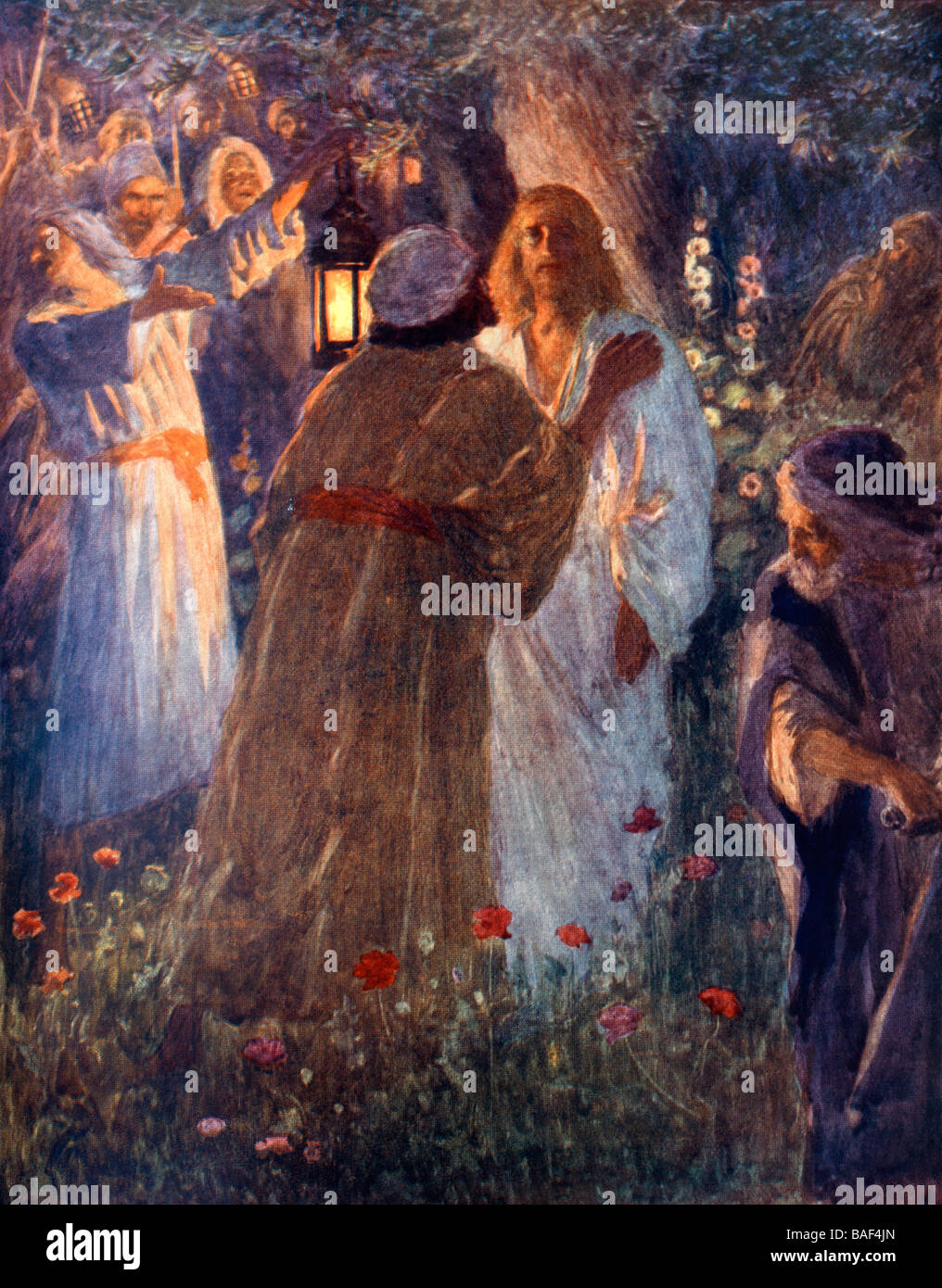 The Betrayal Of Christ Jesus In The Garden Of Garden Of Gethsemane Stock Photo 23689869 Alamy