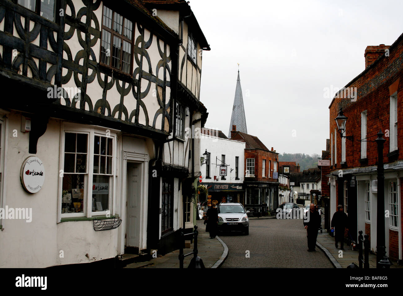 godalming town county of surrey south of england uk - Stock Image