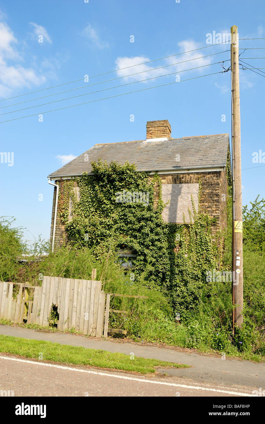 Old House Boarded up - Stock Image
