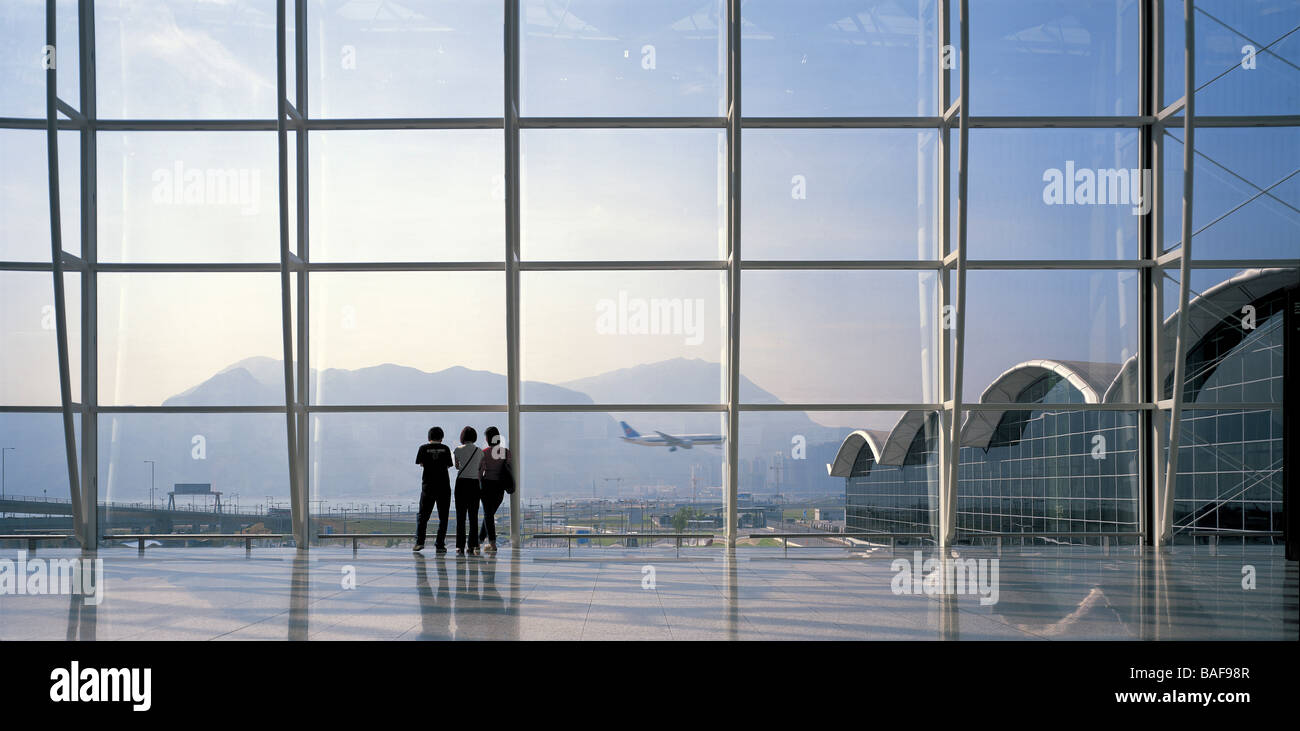Chek Lap Kok Hong Kong International Airport, Hong Kong, Hong Kong, 1998 - Stock Image