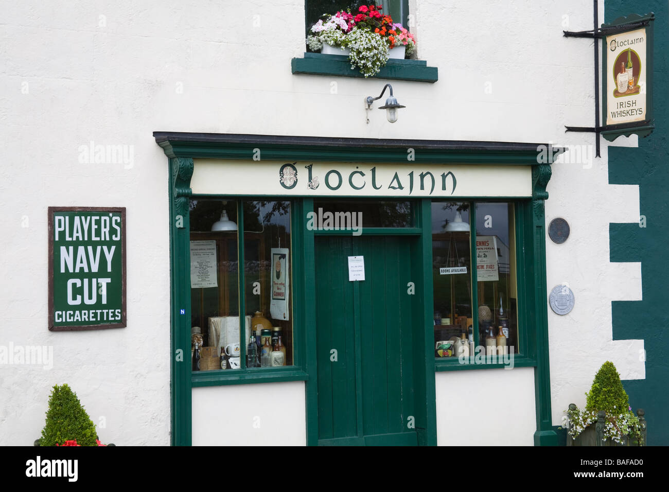 Pub in Ballyvaughan Town The Burren Region County Clare Ireland - Stock Image