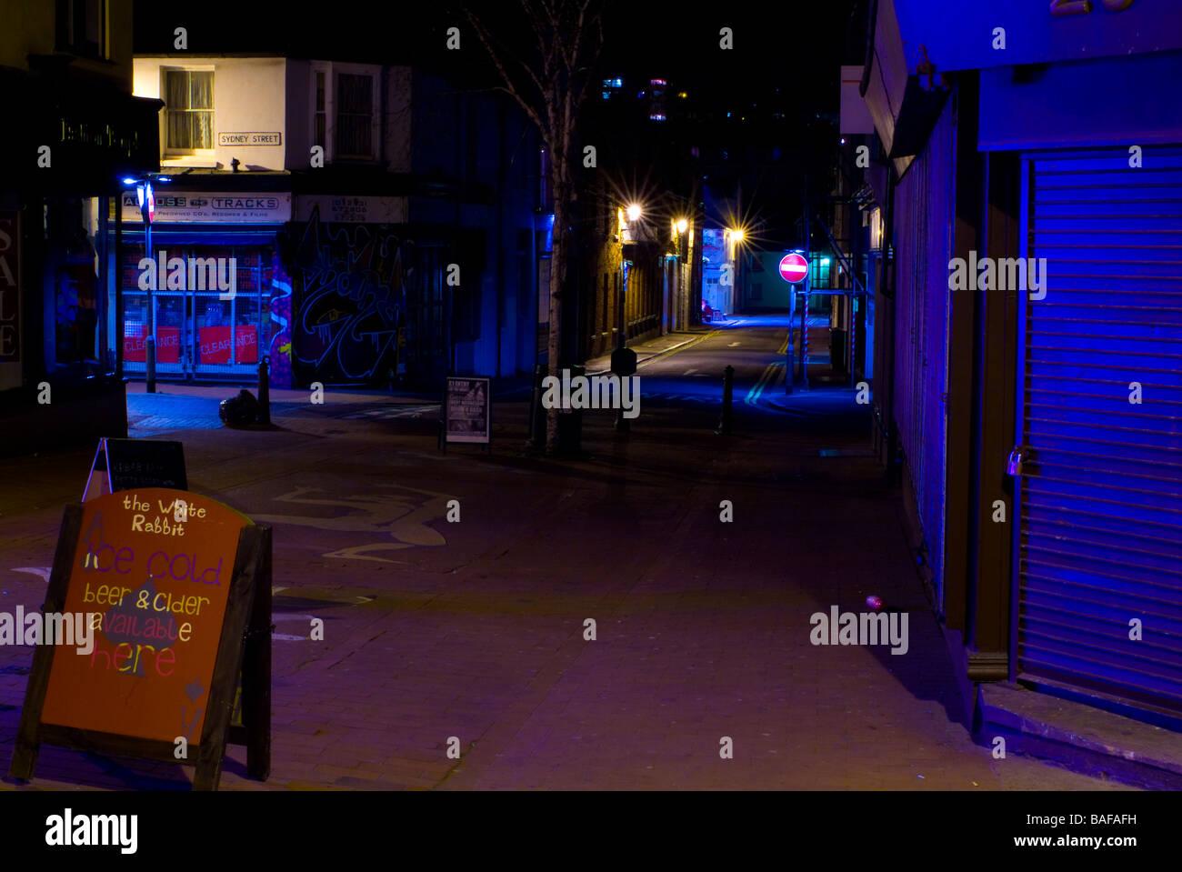 Brighton and Hove Street Scenes at night - Stock Image