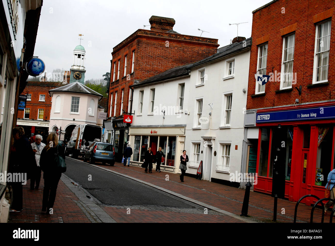 general view of church street godalming county of surrey south of england uk 2009 - Stock Image