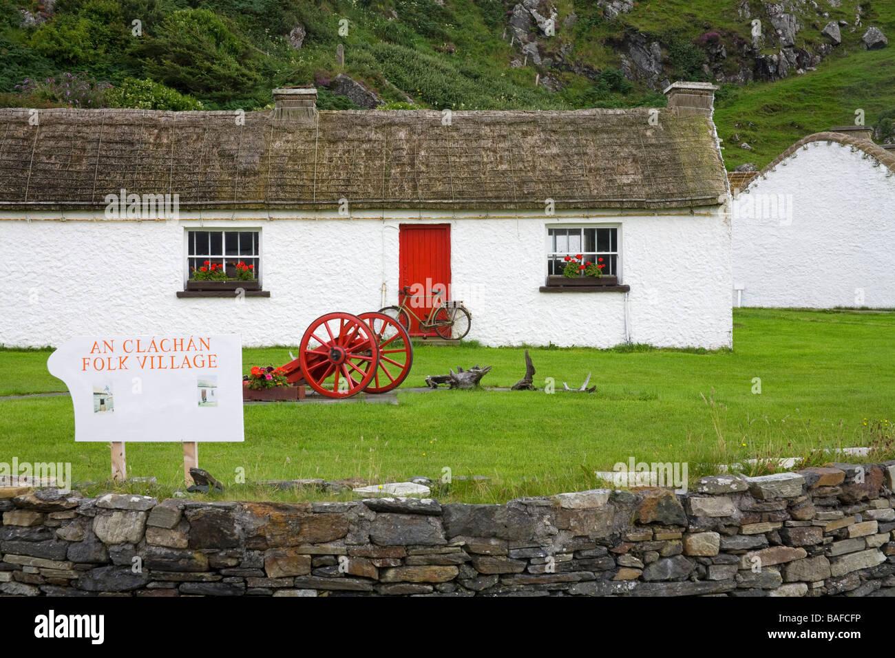 Folk Museum Glencolmcille Village County Donegal Ireland - Stock Image