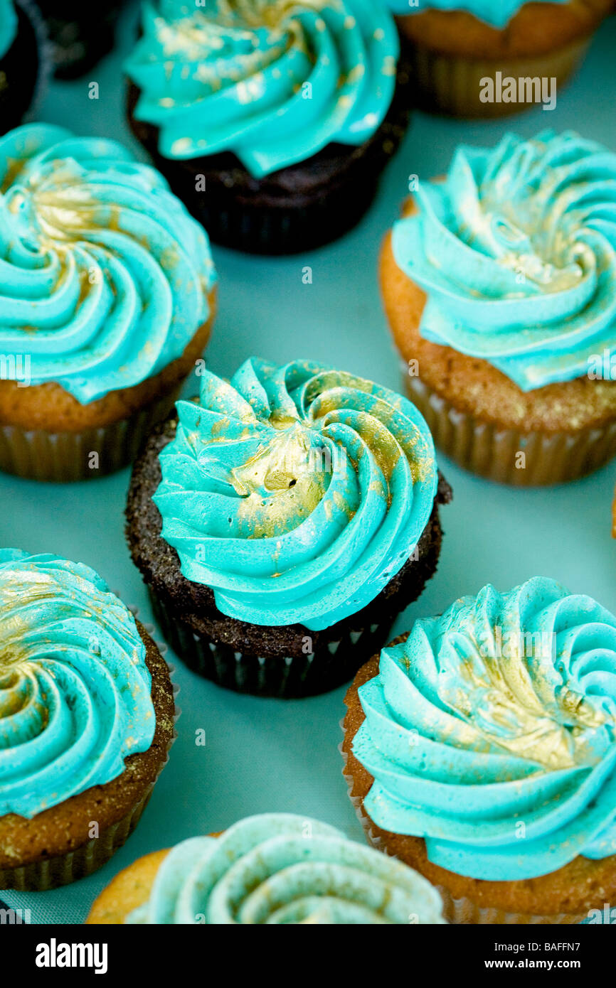 cupcake, wedding cupcakes, blue, teal, green, gold, color, chocolate ...