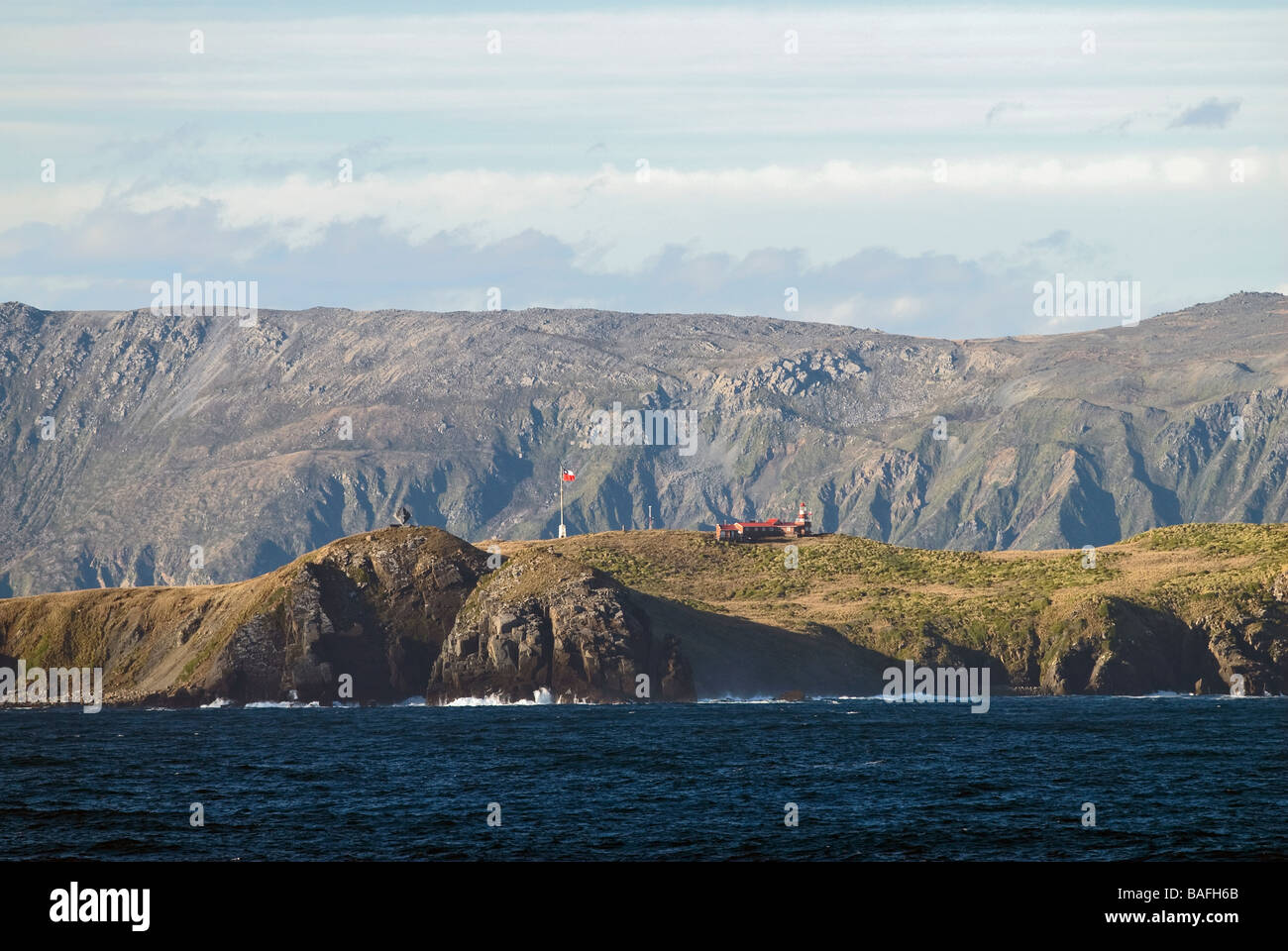 View of Cape Horn, on the Southern most tip of South America. - Stock Image
