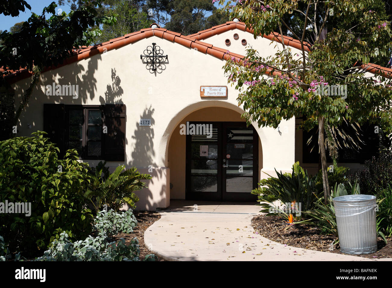 house of pacific relations a group of 20 cottages representing 31 nations culture balboa park san diego california - Stock Image