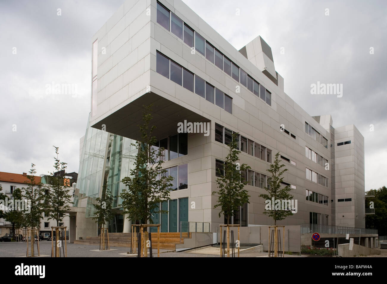 Academia of Fine Arts, Munich, Germany, Coop Himmelb(l)au, Academia of fine arts view from the south east. - Stock Image