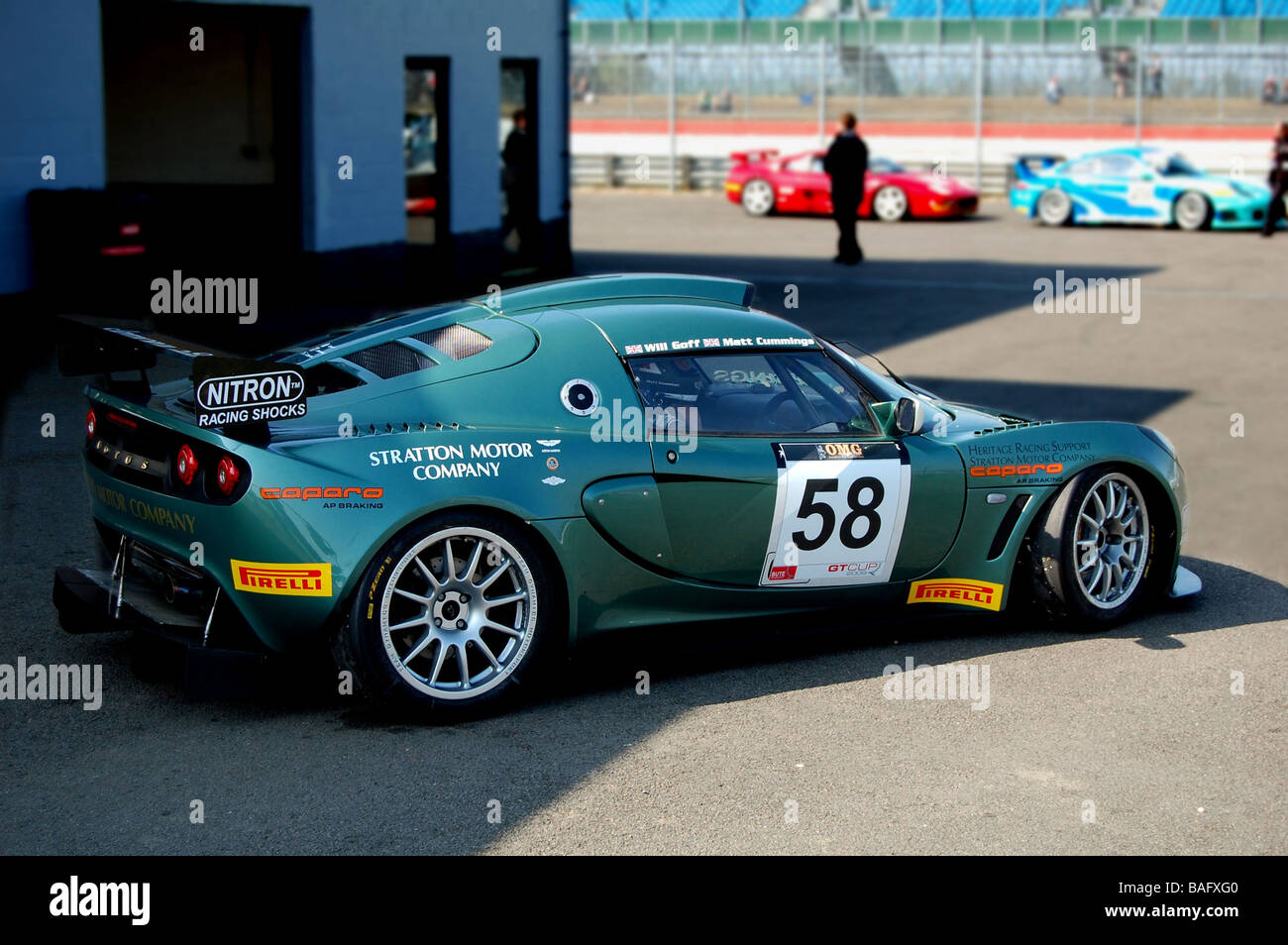 Lotus Exige Racecar at Donington park Elise Trophy Stock Photo ...