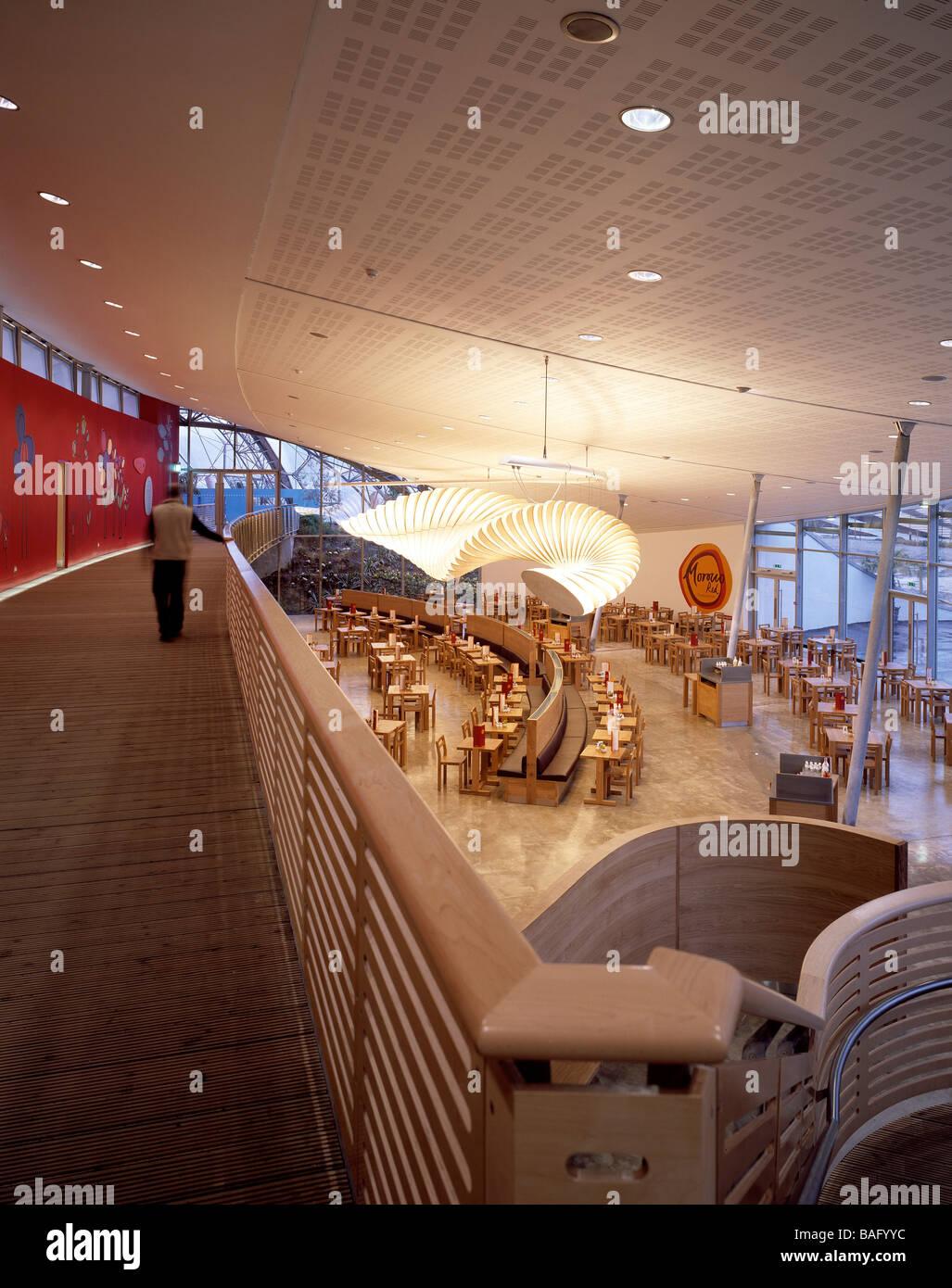 eden project portrait view of biome link building/cafe Stock Photo ...