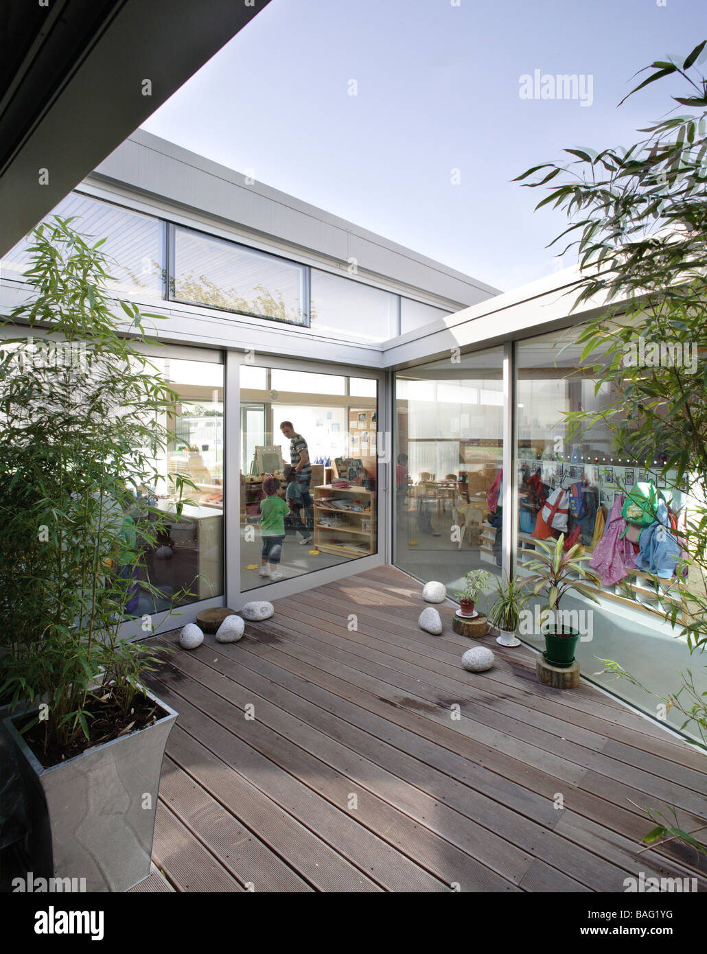 John Perry Chldrena€™s Centre and Nursery, London, United Kingdom, Dsdha Architects, John perry chldrena€™s centre - Stock Image