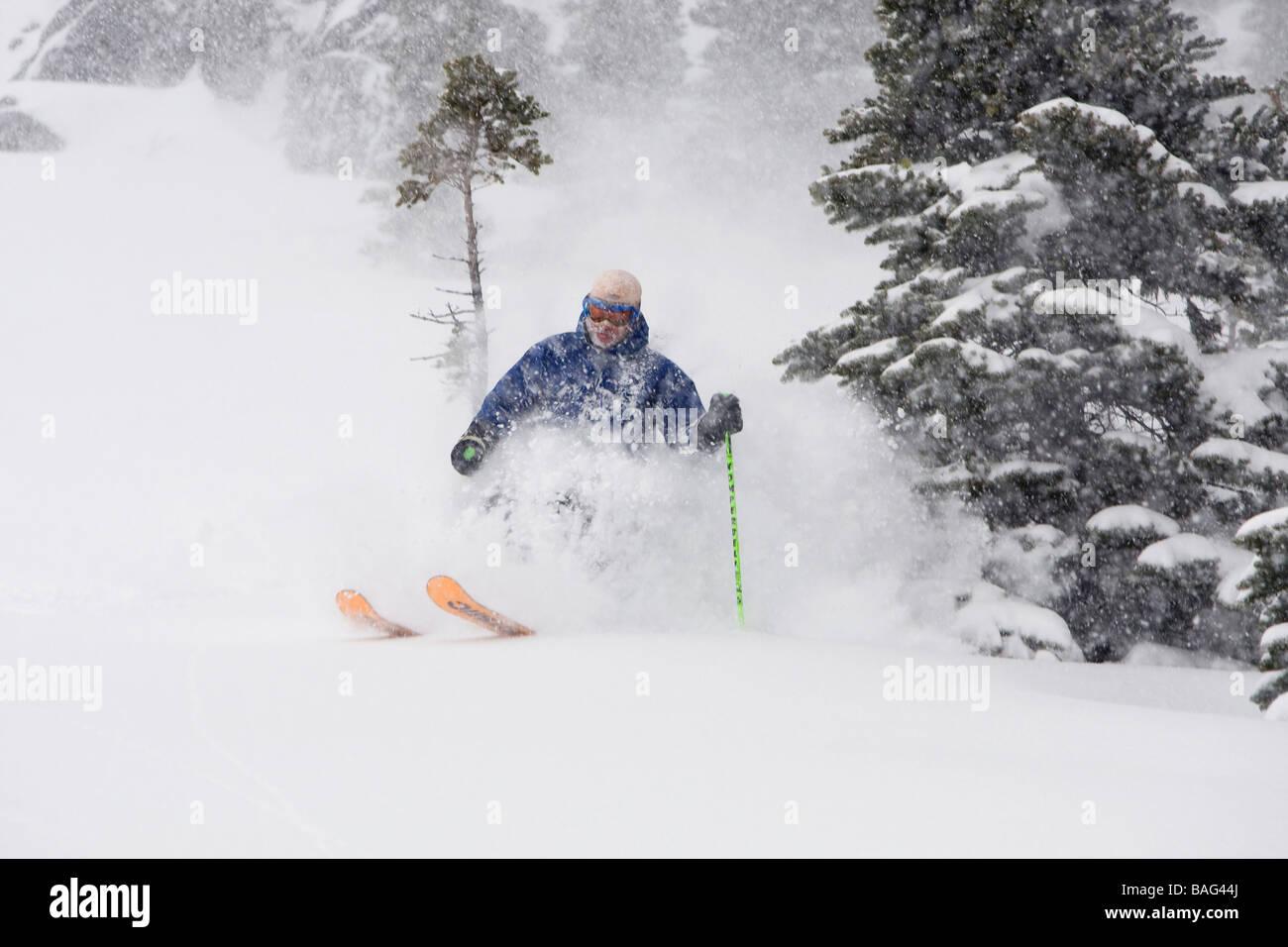 canada canadian provinces north america photography Randy Lincks Whistler British Columbia bc ski skiing recreation - Stock Image