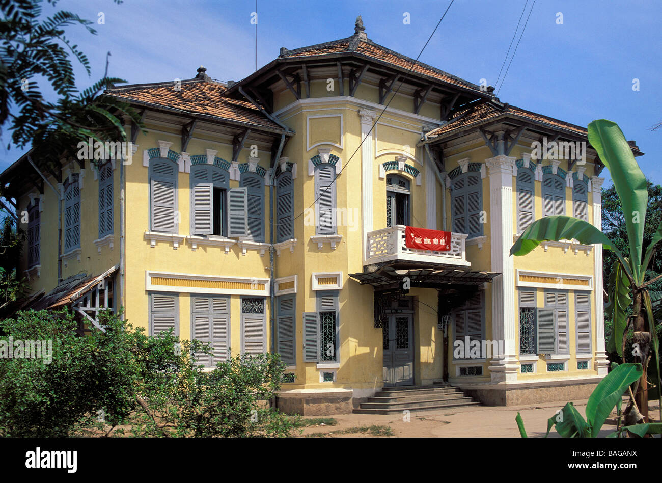 Vietnam, Dong Thap Province, Mekong Delta, Sa Dec, the French writer Marguerite Duras's house - Stock Image