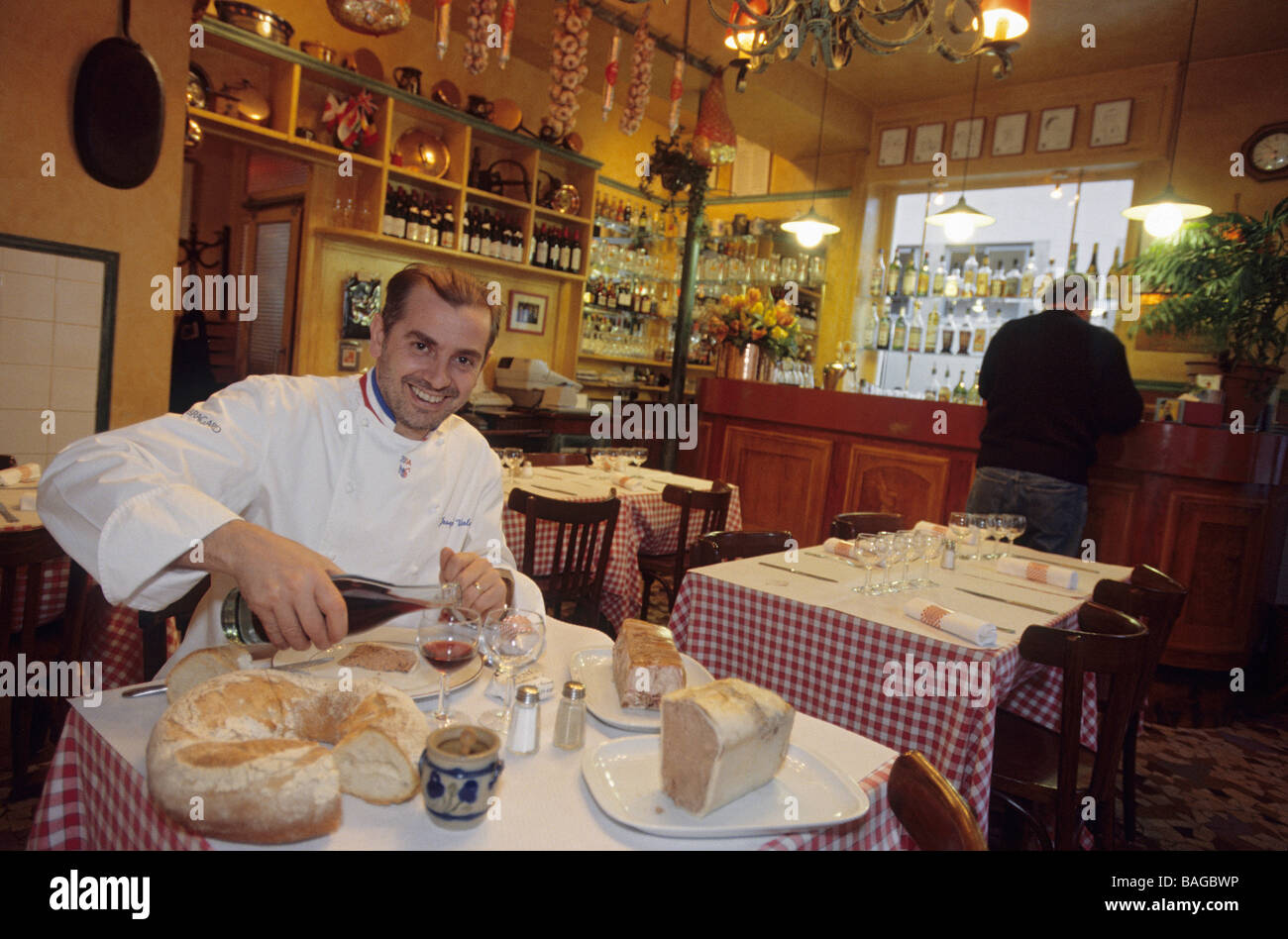 france rhone lyon traditional bouchon restaurant daniel et stock photo 23717506 alamy. Black Bedroom Furniture Sets. Home Design Ideas
