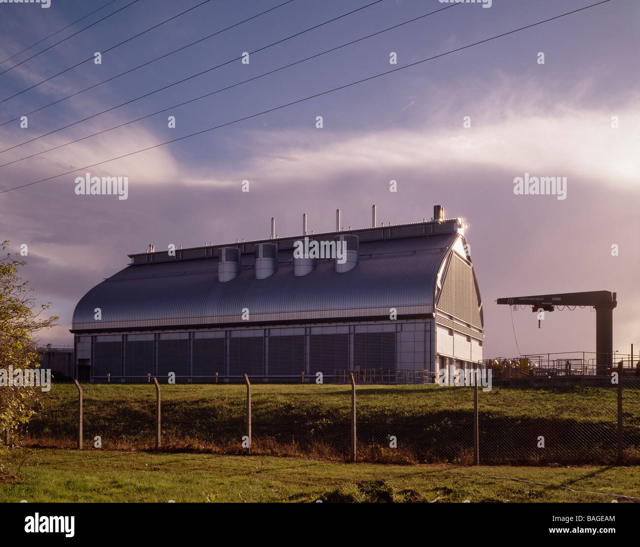 Abbey Mills Pumping Station, London, United Kingdom, Allies and Morrison, Abbey mills pumping station landscape - Stock Image