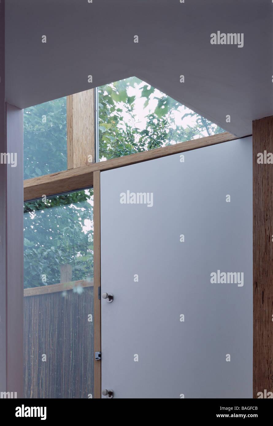 In-Between, London, United Kingdom, Annalie Riches Silvia Ullmayer and Barti Garibaldo, In-between window and door - Stock Image