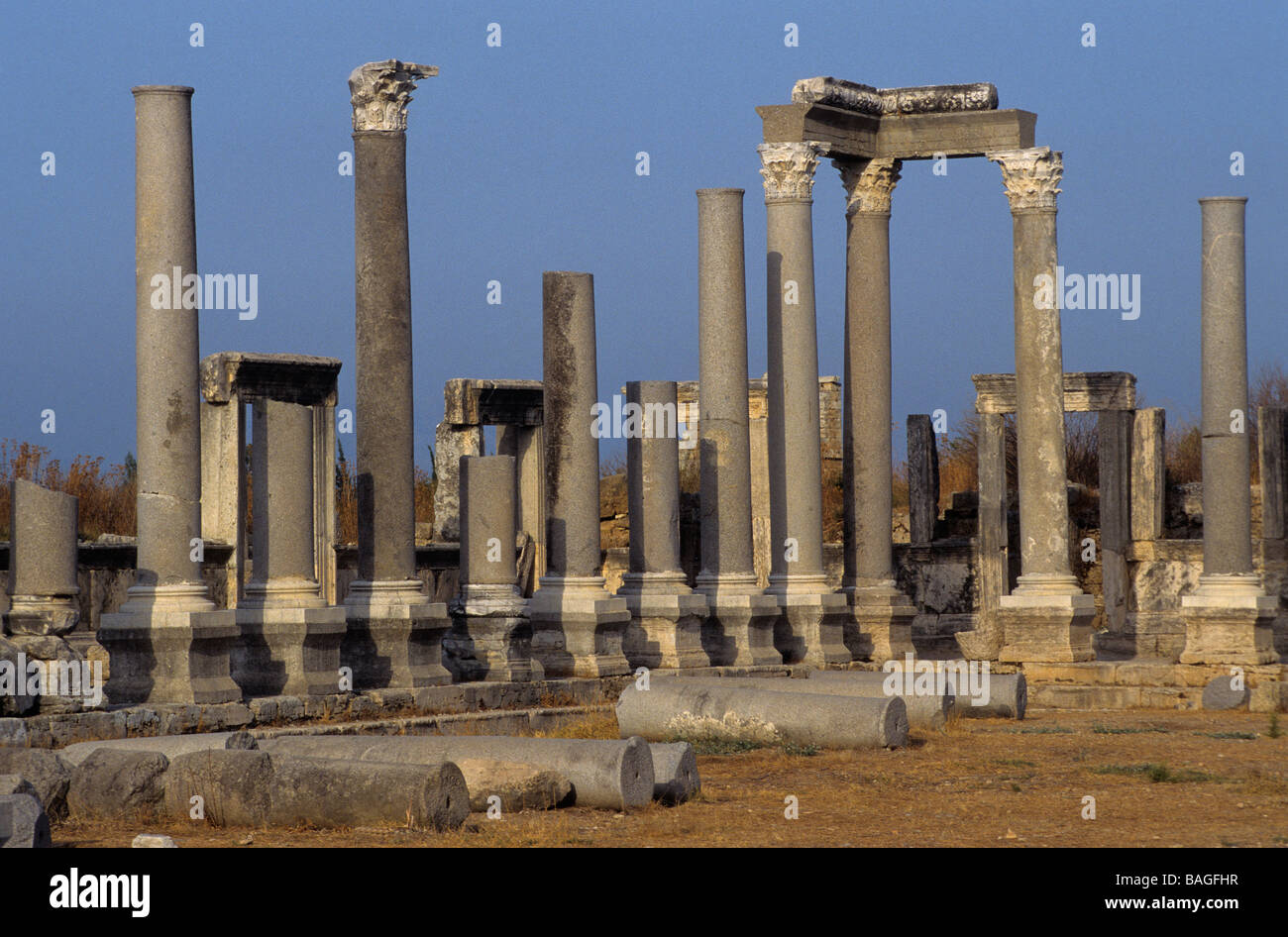 Turkey, Perge, amphitheater built in the second century - Stock Image