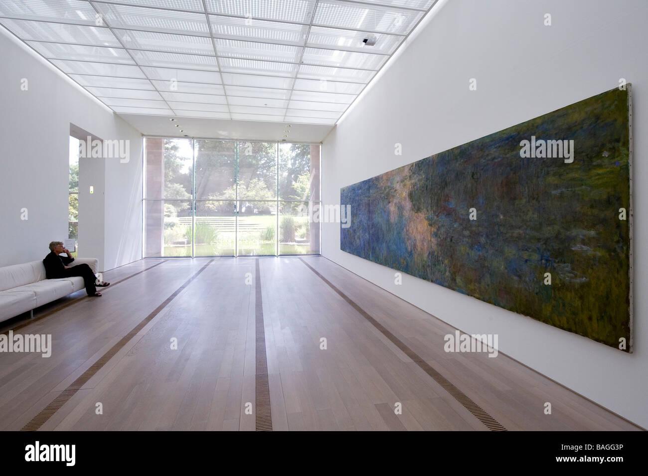 Switzerland, Basel, Fondation Beyeler, Water-Lili Pond by the painter Claude Monnet - Stock Image