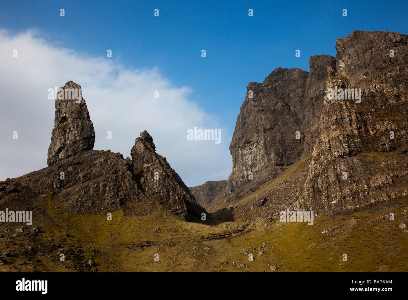 The Old Man of Storr, Trotternish peninsula of the Isle of Skye, Scotland, UK - Stock Image