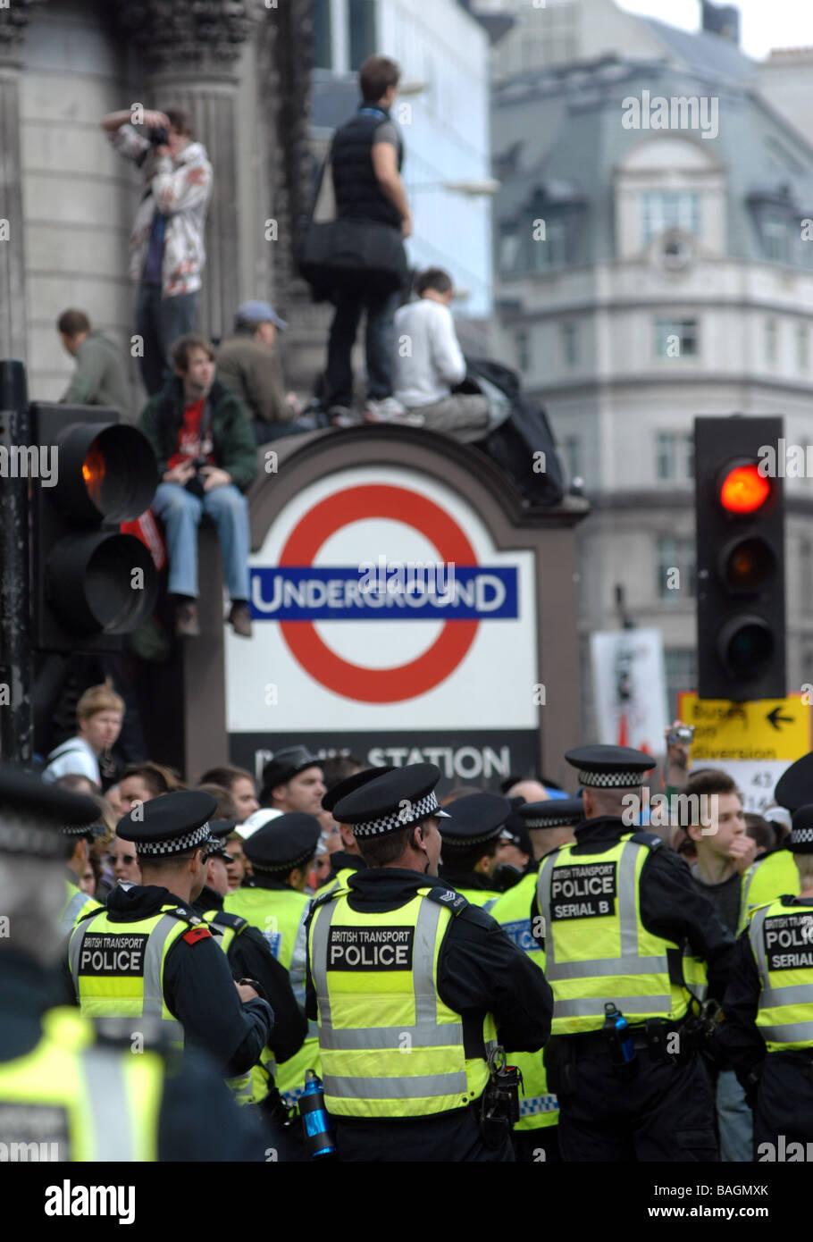 G20 Summit, London, Britain, UK - Stock Image