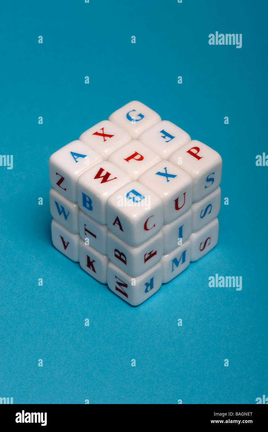 Cube of letters - Stock Image