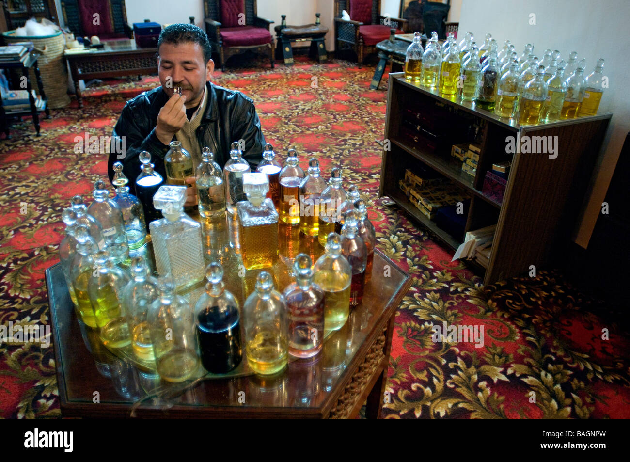 Egypte, Le Caire, perfumer - Stock Image
