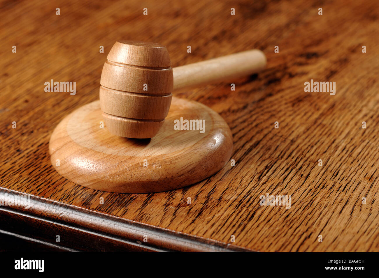 Auctioneer gavel hammer - Stock Image