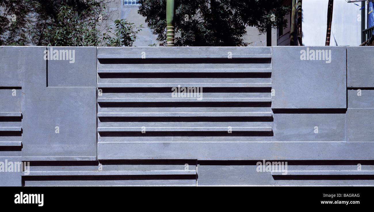 Annandale House, Sydney, Australia, Jahn Associates Architects (Graham Jahn), Annandale house detail of concrete - Stock Image
