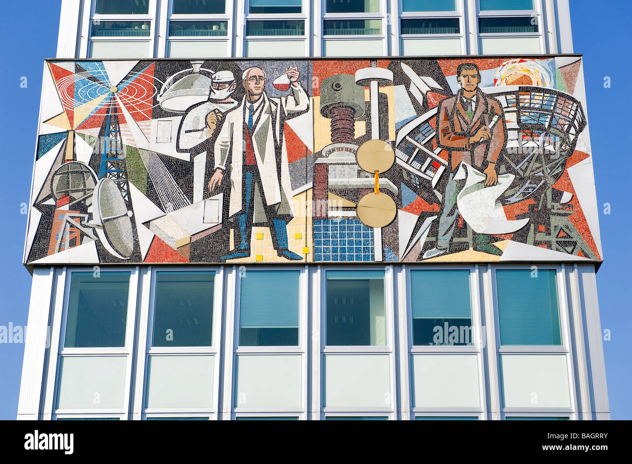 Germany, Berlin, Karl Marx alley, East Coast, a relic of Stalinist architecture Stock Photo