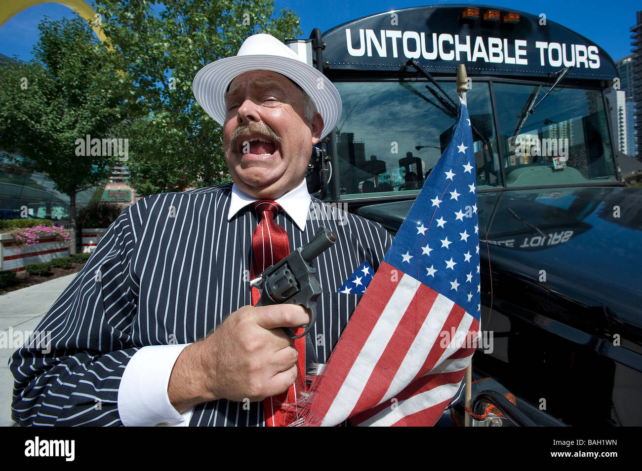 United States, Illinois, Chicago, The Untouchable Tours takes you through Chicago's gangsters and Prohibition - Stock Image