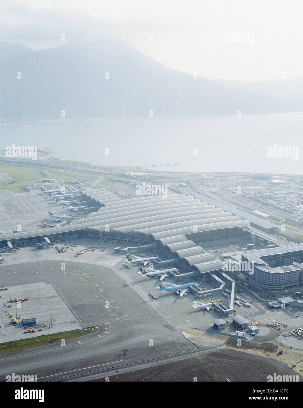 Chek Lap Kok Hong Kong International Airport, Hong Kong, Hong Kong, Foster and Partners, Chek lap kok hong kong - Stock Image