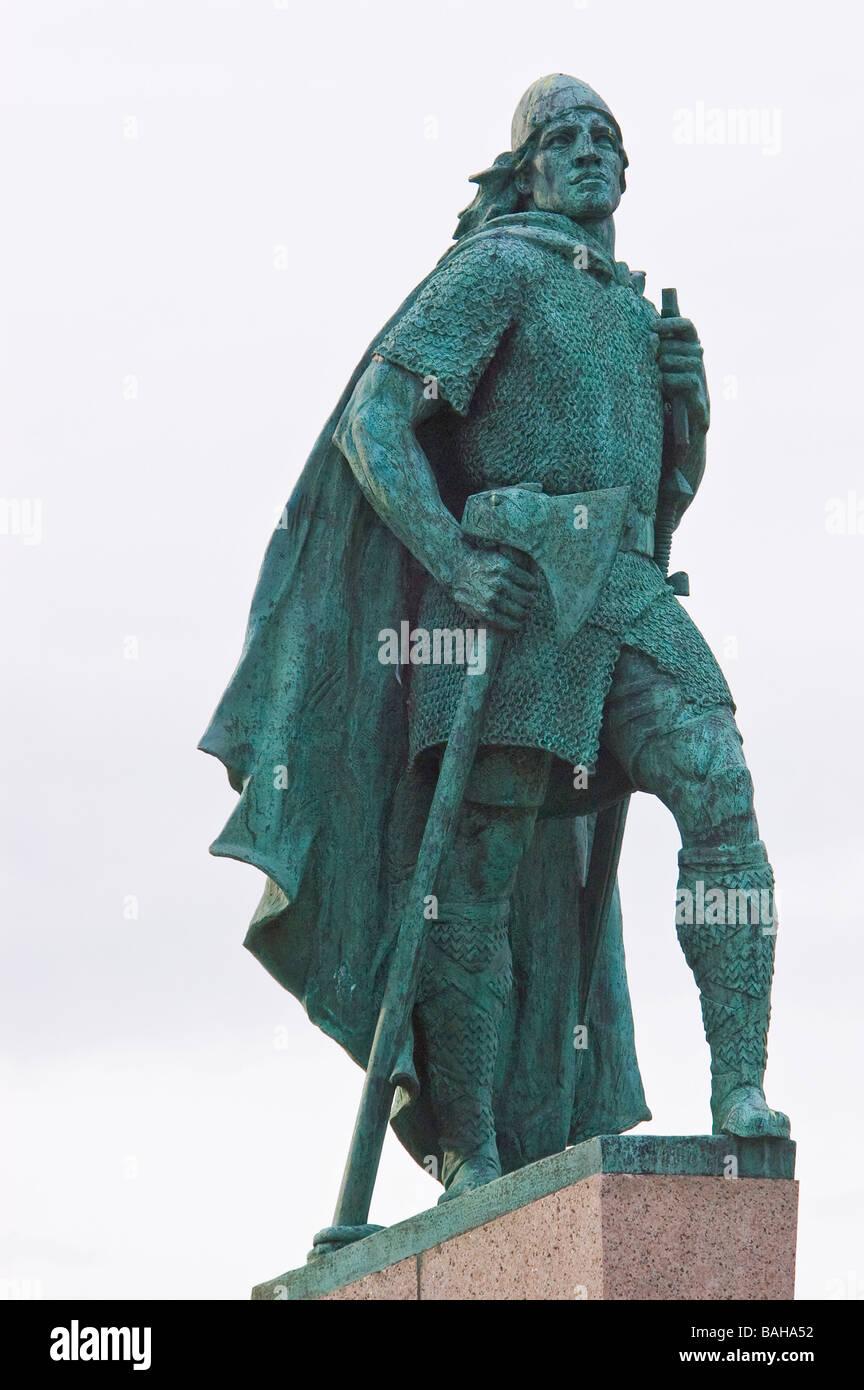 Statue of Leif Ericsson Reykjavik, Iceland Stock Photo